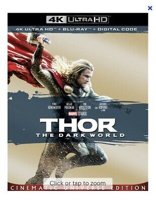 Thor: The Dark World (4K UHD / Blu-ray / Digital Code) With Slipcase!