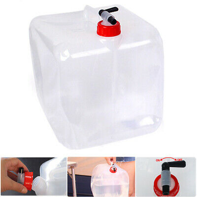 10L Outdoor Folding Drinking Bucket Camping Portable Large Capacity Water Bag AU