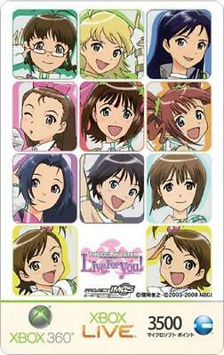 Xbox LIVE 3500 Microsoft Points card THE IDOLM @ STER limited version (A) Japan