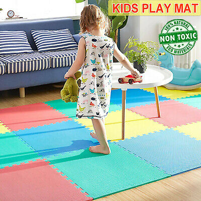 72x Large Kid Floor Play Mat Soft Foam EVA Jigsaw Tiles Interlocking Garden Yoga