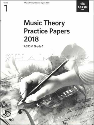 Music Theory Practice Papers 2018 ABRSM Grade 1 Past Exams SAME DAY DISPATCH