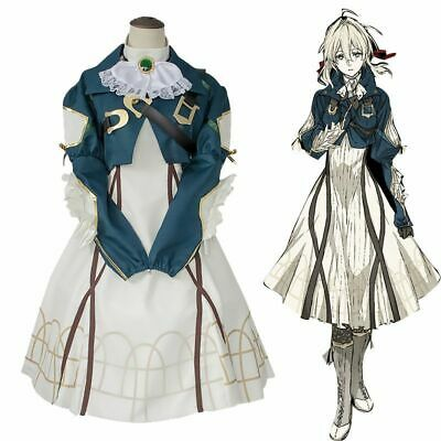 Violet Evergarden Cosplay Auto Memory Doll Uniform Dress Anime Outfit Costume