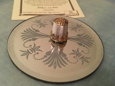 STERLING SILVER Mother of Pearl THIMBLE - JULIUS WEINGERT Limited Edition