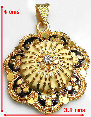 24k 24ct Yellow Thai Indian Gold Plated Chain Pendant Women Necklace Jewelry Set