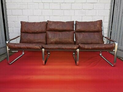 Vintage natural leather coach / sofa 60's/70's