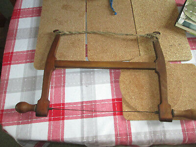 Vintage collectable I Sorby beech wood bow / turning saw