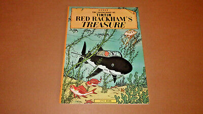 Herge The Adventures of Tintin Red Rackham's Treasure 1974 Little, Brown and Co.