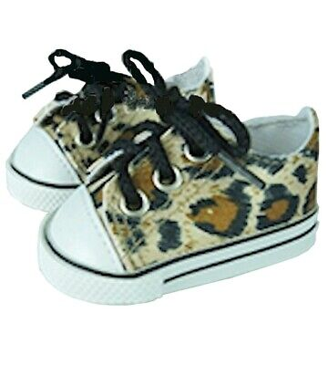 """Little Leopard Tail Sneakers Fits 18/"""" American Girl Doll Clothes Shoes"""