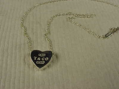 Lovely Tiffany & Co Sterling Silver Necklace &  Heart Pendant