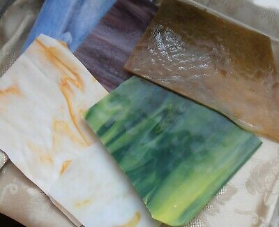 Only Opaque Stained Glass Scraps Pieces 2 lb USA Germany Vintage