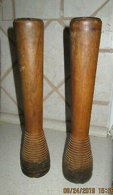 Antique Wooden Yarn Spindles