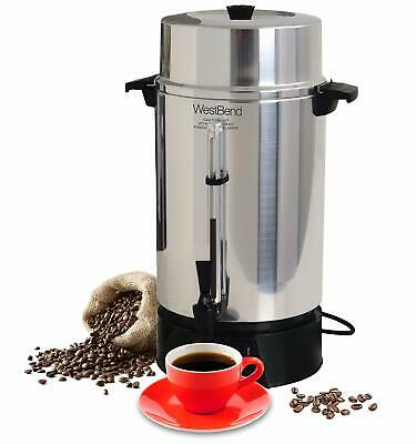 West Bend 33600 Highly Polished Aluminum Commercial Coffee Urn Features Autom...