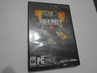 PC Call of Duty: Black Ops 4 Brand New Factory Sealed **NO DISC**  ev