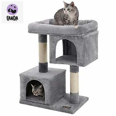 Cat Tree Furniture for Large Cats, 2 Cozy Plush Condos and Sisal Posts