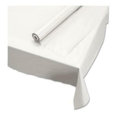"""Hoffmaster 113000 Plastic Roll Tablecover, 40"""" X 100 Ft, White"""