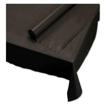 """Hoffmaster 113003 Plastic Roll Tablecover, 40"""" X 100 Ft, Black"""