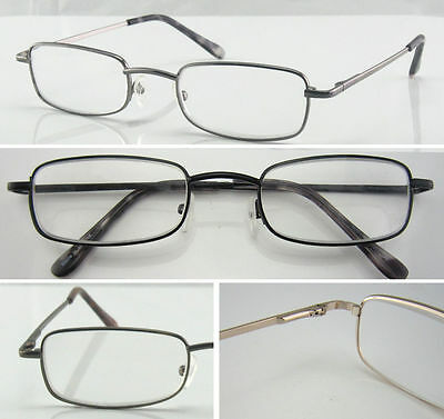 Classic Metal Reading Glasses/Multi Design/Spring Hinges Arms/Strength +50~+400