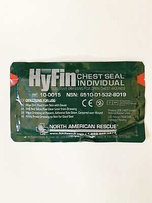 North American Rescue Hyfin Chest Seal Dressing Gauze Occlusive Medic