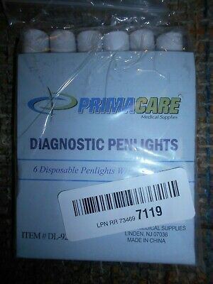 6 PC Medical First Aid Diagnostic Penlights w/ Pupil Gauge PACK OF 6