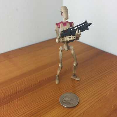 F52 Star Wars Loose Figure POTJ Battle Droid Security Power of the Jedi red pad