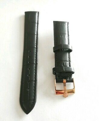 18mm Genuine Leather Watch Strap for Rolex watches including Rose Gold buckle.