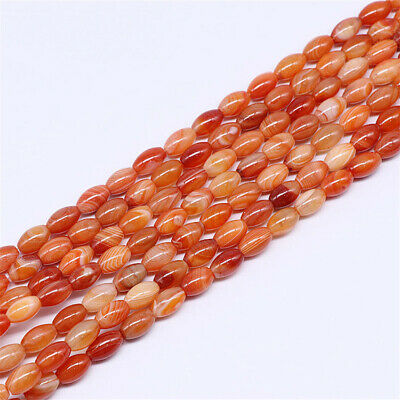 8x12mm Natural Red Striped Agate Loose Beads Making Jewelry 15 inches Wholesale