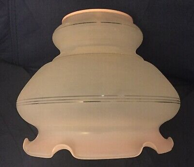 Original Art Deco Light Shade Pink