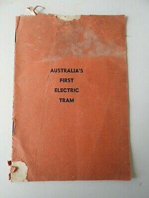Victorian Railways Australia's First Electric Tram Booklet. Very RARE. Print1950
