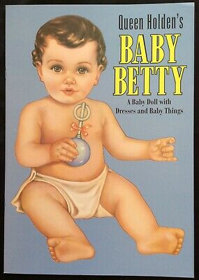 Baby Betty Papier Puppe Buch von Queen Holden, Reproduktion 1937 Uncut, Sehr