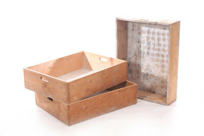 Beautiful Old Wooden Box Box Wood Art Deco Vintage Transport Chest Stackable
