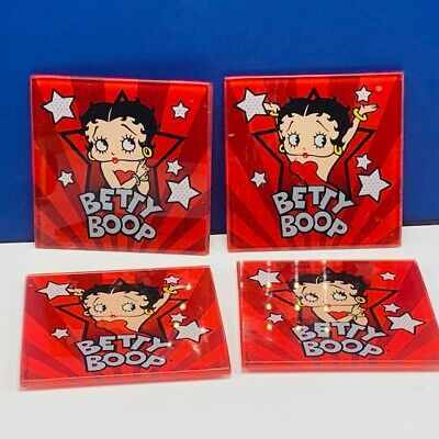 RETIRED Betty Boop COASTERS 4 PIECE SET W// TIN CASE