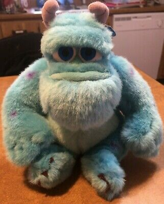 """Disney Monsters Inc. 6"""" SULLY PLUSH BEANIE DOLL Authentic THEME PARK ITEM w/Tags"""