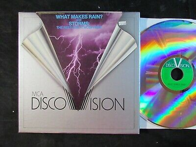 MCA DISCO VISION LASERDISC What Makes Rain And Storms: The Restless Atmosphere