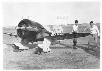 Vintage Aircraft Photo Nr77V City Of Springfield Air Racing Gee Bee Racer Flyer