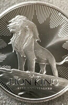 2019 Disney Lion King 25th Anniversary $2 Coin 1 oz .999 Silver Pride Rock Simba