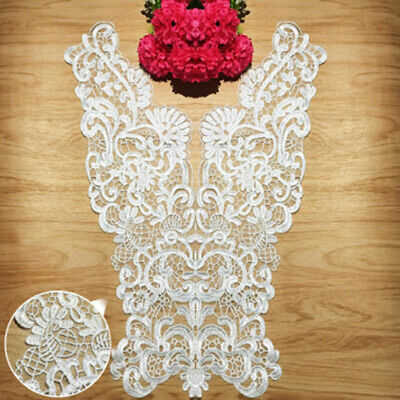 Floral Embroidery Lace Neck Collar Trim Clothes Sewing Patch DIY Applique Crafts