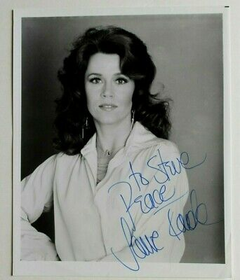 JANE FONDA - Autograph / Signed 8x10 Photo - Actress Movie Star