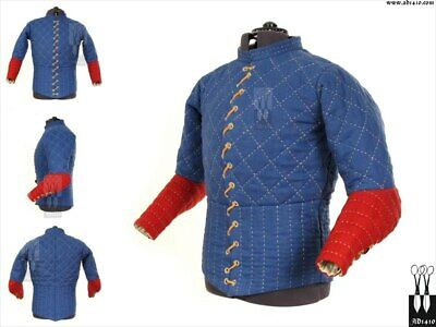 Medieval Only Gambeson Blue Color Fancy Very Beautiful Good Very Smart Men