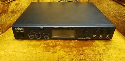 United Uk-8000 Stereo Hi-fi Karaoke Multiplexer, Black, with carrying case