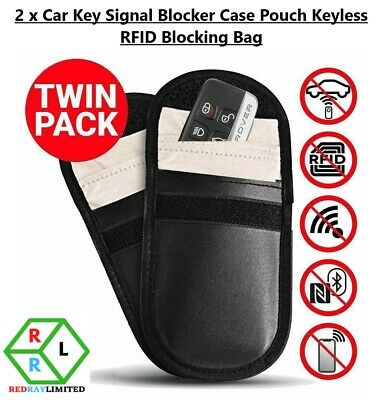 2 x Car Key Blocker Pouch Defender Faraday Bag RFID Blocking For Keys Cards UK