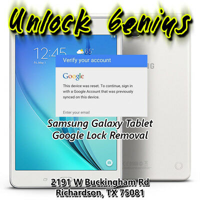 Samsung Galaxy Tab A frp bypass/google account lock removal