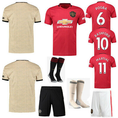 19/20 Kids Boys Football Full Kit Youth Adult Jersey Strips Soccer Sports Outfit