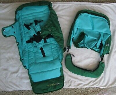 BUMBLERIDE Green Papyrus Replacement Seat Fabric Canopy Bar Indie Stroller NEW
