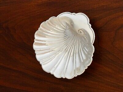 - Gorham Sterling Silver Footed Shell Candy Bowl / Nut Dish No Mono #10