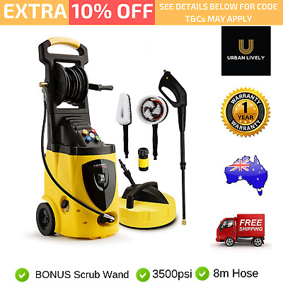 New 3800 PSI High Pressure Electric Washer Gurney Water Cleaner Pump  30m Hose