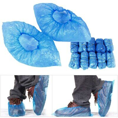 2000 Disposable Plastic Blue Anti Slip Boot Safety Shoe Cover Cleaning Overshoe
