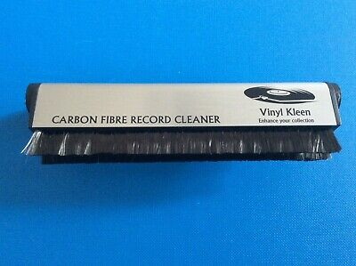 Vinyl Kleen Anti-Static Carbon Fibre Record Cleaning Brush Fiber Hi Fi DJ