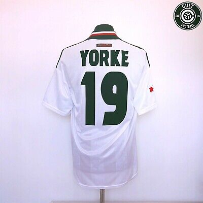 YORKE #19 Manchester United Umbro Away Football Shirt Jersey 1998/99 (L) Treble