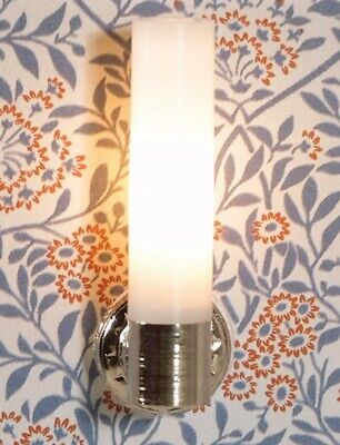 Dolls House Emporium Miniature 1/12th Scale White Wired Modern Wall Light 2524