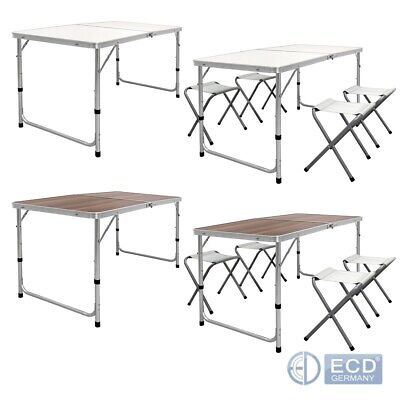4FT camping catering heavy duty folding table trestle picnic white / wood finish